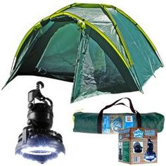 Happy Camper Three Person Tent Plus 2in1 Light and Fan -- Read more details by clicking on the image. #CampingTentsandShelters