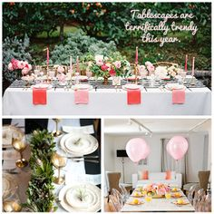 #Tablescapes are terrifically #trendy this year. Tell us, which #table setting would you love to try for a #dinner #party?