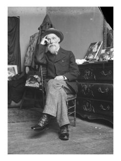 Renoir seated in his studio in Paris; Artists and their Studios - Page 2 - WetCanvasAuguste Renoir seated in his studio in Paris; Artists and their Studios - Page 2 - WetCanvas Pierre Auguste Renoir, Artist Life, Artist Art, Artist At Work, Famous Artists, Great Artists, Studios D'art, August Renoir, Renoir Paintings