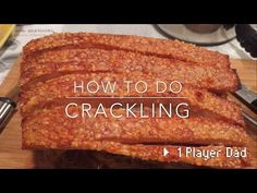 This video will show you how to cook Super Crispy Lechon Kawali wherein the skin gets really crispy while the meat stays most (juicy) and tender. Pork Belly Crackling, Perfect Pork Crackling, Perfect Roast Pork, Crackling Recipe, Pork Belly Recipes, Roast Recipes, Spicy Recipes, Pork Dishes, Tasty Dishes