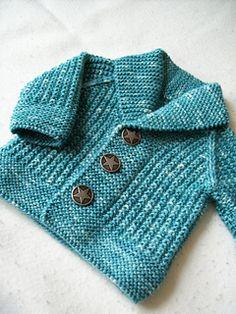 Baby Knitting Patterns Ravelry: Oscar pattern by Lili Comme Tout. 3 months to 8 yea… (NewBorn Baby Stuff) Knitting Patterns Boys, Baby Sweater Patterns, Baby Sweater Knitting Pattern, Knit Baby Sweaters, Knitted Baby Clothes, Knitting For Kids, Baby Patterns, Free Knitting, Crochet Patterns