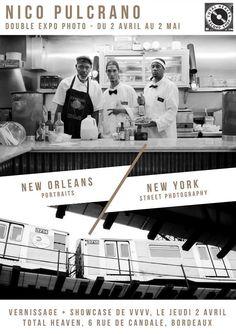 Du 2 avril au 2 mai, Total Heaven Record Shop, 6, rue Candale, accueille une double expo photo de Nico Pulcrano : - 25 photos de la série NOLA's Faces, une série de portraits d'habitants de la Nouvelle Orleans - 25 photos d'une série de street photography,...