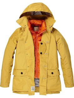 Raincoat with Inner Down Jacket - golden yellow / Scotch & Soda