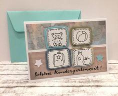 Glückwunschkarten - Kindergarten Glückwunschkarte  - ein Designerstück von POMMPLA bei DaWanda
