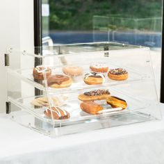 2 Tray Choice Bakery Display Case Front Rear Door Donut Pastry Hotel Cafe for sale online Bakery Display Case, Bread Display, Donut Muffins, Donuts, Small Bakery, Bakery Box, Acrylic Display Case, Chocolate Shop, Food Service