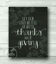 97313a1ae7 Thanks and Giving Thanksgiving Chalkboard