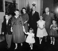 Another picture of Eisenhower and his family at the White House for Christmas
