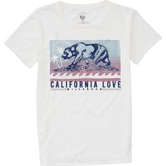 East meets west coast in this native take on the Cali Bear. The updated Batik Cali Bear graphic is printed onto a 100% cotton, relaxed fit boyfriend tee...