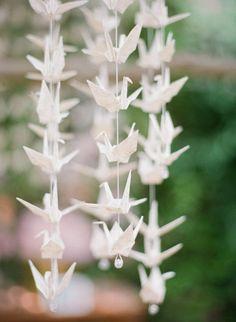 grullas de papel hermosos detalles para bodas