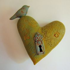 Wall Heart with Bird.