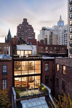 huge windows and green space