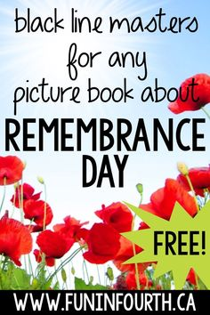 Looking for an easy, low-prep way to assess student comprehension of any Remembrance Day picture book? Grab your copy of two differe. Social Studies Classroom, Social Studies Activities, Teaching Social Studies, Educational Activities, Book Activities, School Resources, Teaching Resources, Classroom Resources, Teaching Ideas