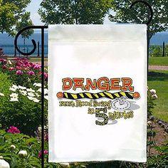 Danger Next Mood Swing 5 Minutes New Small Garden Flag, Home Decor