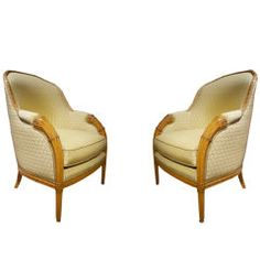 Comfortable Pair Art Deco Armchairs After Follot, French Circa 1925