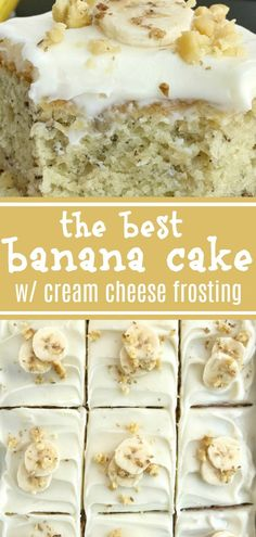 Lower Excess Fat Rooster Recipes That Basically Prime Banana Bread Cake W Cream Cheese Frosting Banana Cake Banana Desserts Cream Cheese Frosting Banana Bread Cake Topped With A Thick Cream Cheese Frosting, And Baked Up Perfectly In A Baking Dish. 13 Desserts, Banana Dessert Recipes, Banana Bread Recipes, Delicious Desserts, Desserts With Bananas, Banana Bread Icing Recipe, Best Banana Cake Recipe Moist, Baking With Bananas, Cream Cheese Frosting