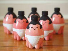 Pink Stripey Socks: Guest Post: Sumo Plastic Bottle Bowling Pins Bottles, Toys