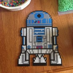 R2D2 Star Wars perler beads by thatperlernerd