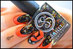 "Halloween nails by Boomer Nails: using Nailtini ""Mai Tai"" 