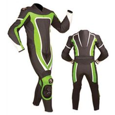 One-Piece Leather Motorcycle Race Suit. Leather Motorbike Racing Suits Have Made out Of the finest Sialkot Pakistan High resistance drum dyed 1.1-1.3mm Cowhide Milled Leather.
