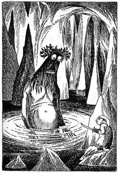 Bilbo the Hobbit (with Gollum) by Tove Jansson Swedish edition, 1962.