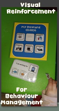 Reward system - for students with Autism Visual Reinforcement for students with visual and token choices,