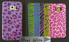 CELLPHONE FASHION - Clear Flexible Cover and 6 Different Inserts for Samsung Galaxy S6 - Wild Animal Prints -  SET 8