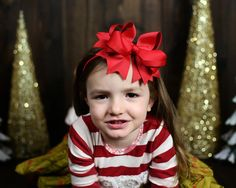 Items similar to Red Christmas Hair bow , Hair bow or headband, over the top , inch hair bow for girls , Large red hair bow on Etsy Christmas Hair Bows, Red Christmas, Trending Outfits, Unique Jewelry, Handmade Gifts, Vintage, Etsy, Fashion, Kid Craft Gifts