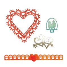 Sizzix.com - Sizzix Thinlits Die Set 4PK - Love Birds & Hearts