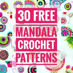 Big Flower Mandala Blue Bubblegum Betty Set Free My Gypsy Soul Free Mandala Crochet Patterns, Easy Crochet Stitches, Crochet Circles, Doily Patterns, Freeform Crochet, Crochet Motif, Crochet Flowers, Crochet Gratis, Free Crochet