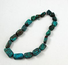 Vintage turquoise nugget beads square