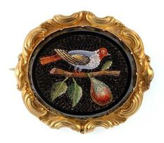 Micro Mosaic Jewelry | An antique micro mosaic bird brooch, the fine ... | A Jewelry Micro...