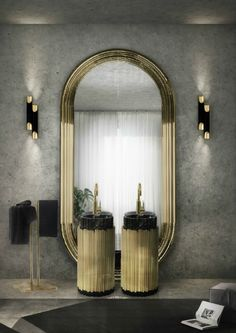 A luxury bathroom will get you halfway to a luxury home design. Today, we bring you our picks for the top bathroom decor ideas that merge exclusive bathroom Decoration Inspiration, Decoration Design, Interior Design Inspiration, Decor Ideas, Furniture Inspiration, Contemporary Home Decor, Contemporary Design, Interior Dorado, Mid-century Modern