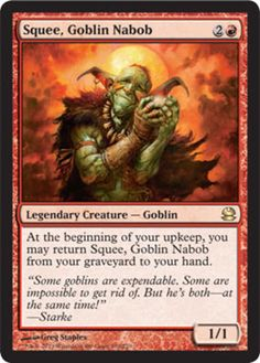 Squee, Goblin Nabob Modern Masters mtg Magic the Gathering rare red legendary creature card
