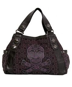 I actually have a bronze faux leather one with a huge faux diamond encrusted silver skull for a clasp.