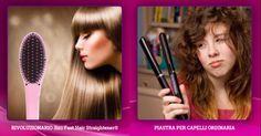 Fast Hair Straightener® tecnologia avanzata per raddrizzare i capelli con rivestimento ceramico per ottenere acconciature dritte e durevoli. Il pettine si può usare su tutti i tipi di capelli. La tecnologia che incorpora si prende cura dei tuoi capelli con l'aiuto degli ioni negativi che disperdono la staticità nei capelli. Mentre il raddrizzatore raddrizza i capelli col aiuto della temperatura, il pettine diffonde gli ioni negativi sui capelli e così crea una speciale protezione. Il…