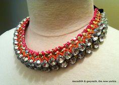 DIY Rhinestone and Chain Statement Necklace