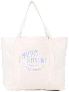 MAISON KITSUNÉ . #maisonkitsuné #bags #hand bags #tote #cotton #