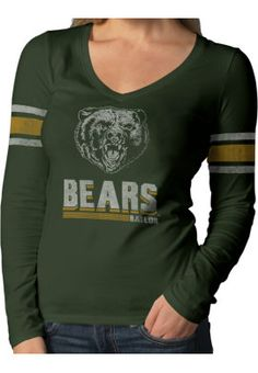 Retro #Baylor women's longsleeve tee ($40 at Baylor Bookstore)