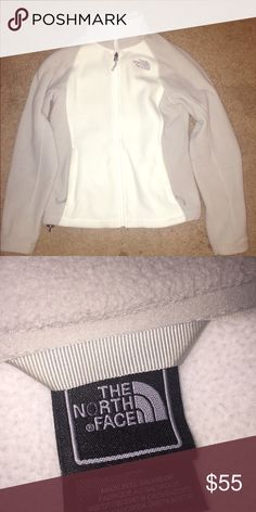 North Face Fleece Size Small Size small white/grey fleece. Only worn a few times. Still looks brand new. North Face Jackets & Coats