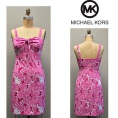 Michael Kors dress Michael by Michael Kors pink summer dress. In excellent condition.  Material: polyester / spandex blend.  Size: 2  Originally $120 Michael Kors Dresses