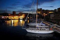 Marina of Porto Cupecoy by night
