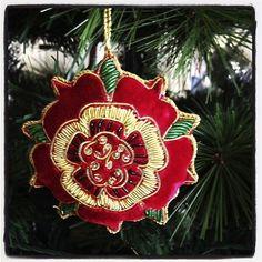 Retracing the steps of Anne Boleyn Christmas Giveaways, 25 Days Of Christmas, Christmas Colors, Christmas Decorations, Holiday Decor, Christmas Ideas, Embroidered Christmas Ornaments, Fabric Ornaments, Elizabeth Of York