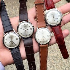 Why have 3 when you can have 4!?! 4 white gold automatic 3445 Patek Philippe Calatravas. Priced at $25,5. $24,5. $22,5 and $18,5 respectively. The one at $25,5 was sold today. Wake up people. This watch is HOT  #forsale #forsale #forsale #patekphilippe #3445 #3445g #europeanwatchco