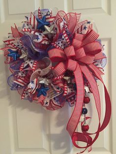 Hey, I found this really awesome Etsy listing at https://www.etsy.com/listing/400099523/patriotic-wreath-fourth-of-july-wreath