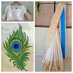 Kurti Embroidery Design, Aari Embroidery, Hand Embroidery Stitches, Embroidery Fashion, Hand Embroidery Designs, Embroidery Dress, Saree Painting Designs, Fabric Paint Designs, Fabric Design