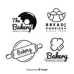 Logos bakery free vector line art Baking Logo Design, Cake Logo Design, Food Logo Design, Bakery Design, Logo Food, Logo Desing, Identity Design, Typography Design, Brand Identity