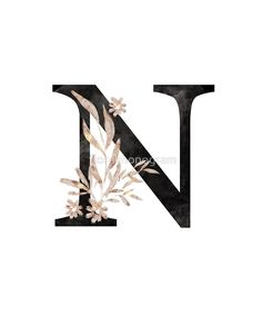 Monogram N Black Gold Flowers And Foliage by floralmonogram s harfi 'Monogram N Black Gold Flowers And Foliage' by floralmonogram Monogram Wallpaper, Alphabet Wallpaper, Name Wallpaper, Emoji Wallpaper, Phone Screen Wallpaper, Fancy Letters, Diy Letters, Gatsby Themed Party, Artist Logo
