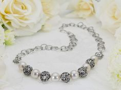 """FREE Ideas : Artbeads.com - Wedding Flowers...This casual bridal piece is perfect to wear after the """"big day"""" to remember the elegance of the ceremony, yet still appropriate to wear with jeans or at the office. Everyone will be impressed with this quick and simple design."""