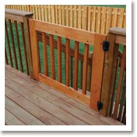Simple Gate For Deck. Gatekeepers Safety ...
