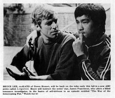 """James Franciscus and Bruce Lee in Longstreet """" The Way Of The Intercepting Fist """"."""